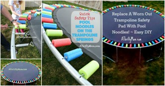 Pool Noodle Trampoline Safety Pad