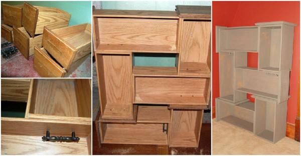 Recycled Drawer Shelf