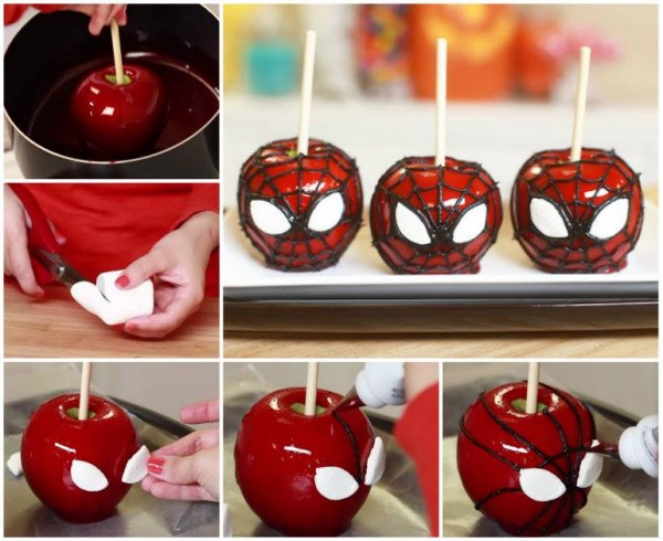 Spiderman Candy Apples 1