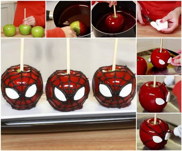 Spiderman Candy Apples 2