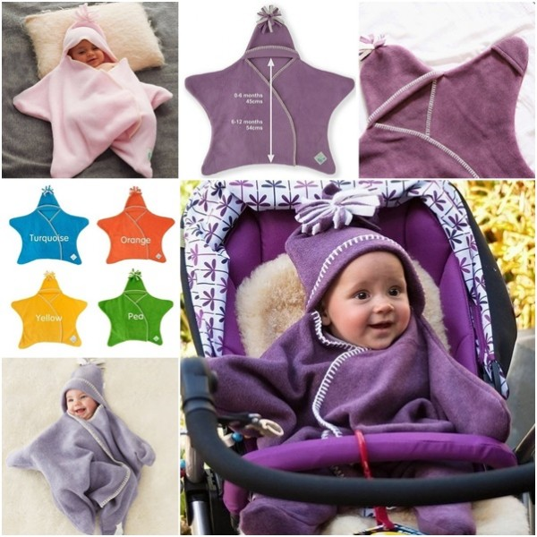 Star Fleece Baby Wrap 1