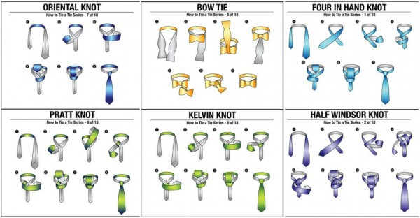 18 Ways To Tie A Tie | How To Instructions