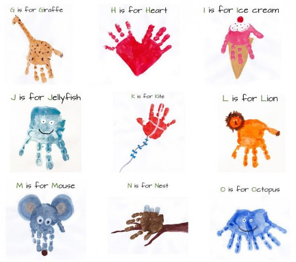 Alphabet Handprint Art 1