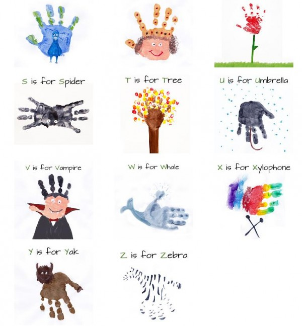Alphabet Handprint Art 2