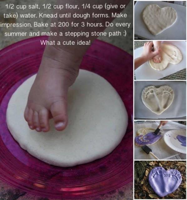 Baby Footprint Craft Tutorial 1