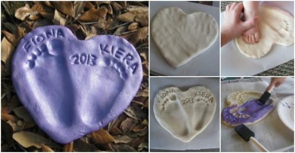 Baby Footprint Craft Tutorial