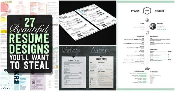 Beautiful Résumé Designs Youu0027ll Want To Steal