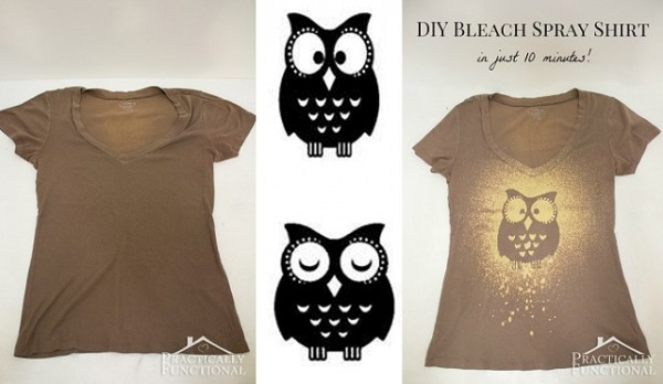 Bleach Spray Custom T-Shirts In Less Than 10 Minutes