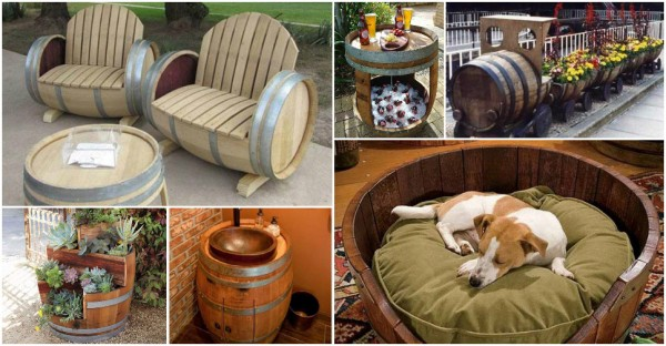 Creative Ways To Re-purpose Old Wine Barrels