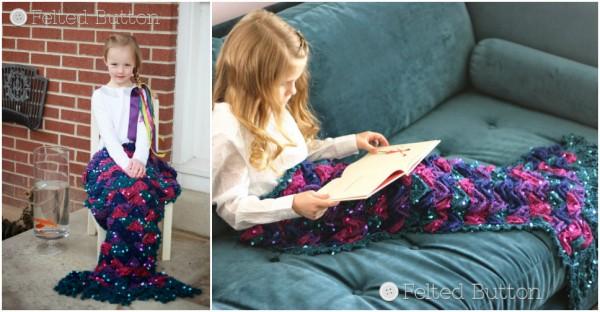 Crochet Mermaid Tail Blanket 1