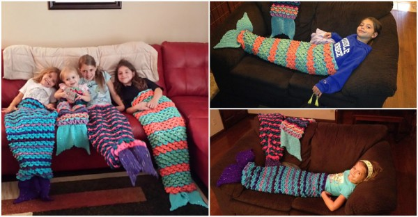 Crochet Mermaid Tail Blanket Patterns How To Instructions