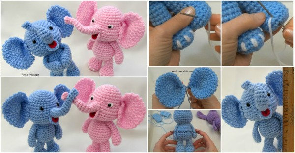 Cute Amigurumi Elephant Free Crochet Pattern How To ...