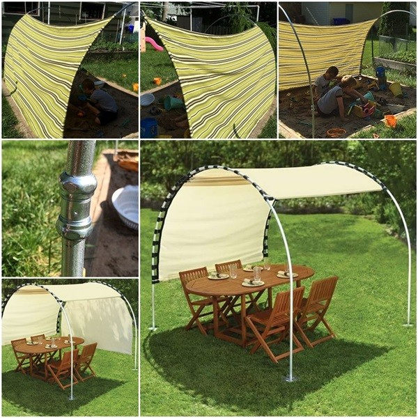DIY Adjustable Outdoor Canopy 1