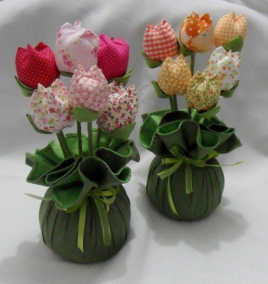 DIY Fabric Tulips 1