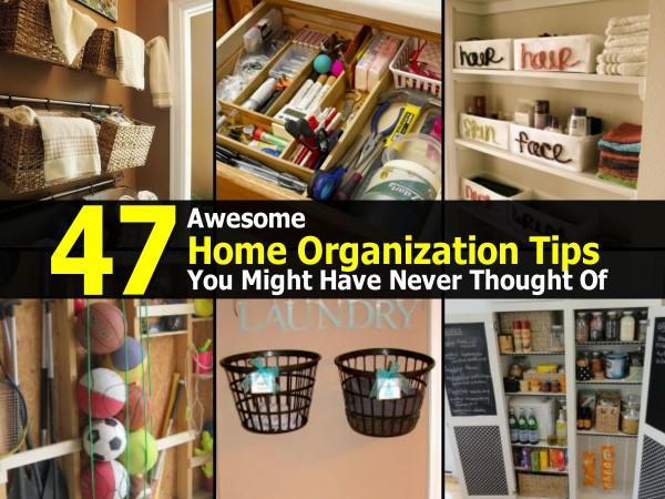 Genius Home Organization Tips