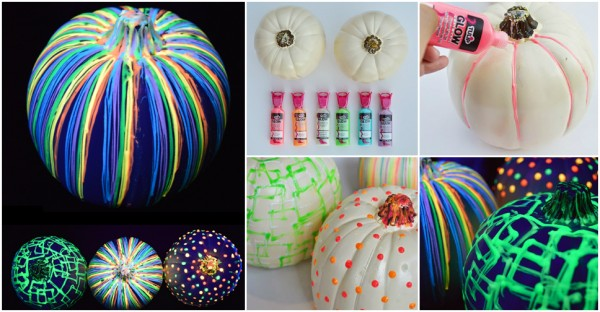How to make glow in the dark pumpkins how to instructions for Glow in the dark paint for real pumpkins