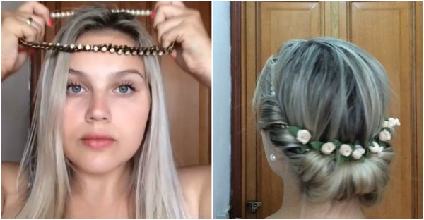 Headband Tuck Hairstyle Tutorial