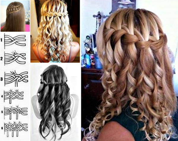 How To Do Lovely Waterfall Braid Hairstyle