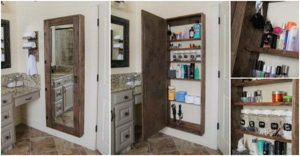 How To Make A Bathroom Mirror Storage Case
