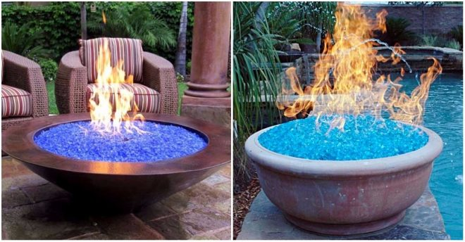Gas fire pits with fire glass are so much beautiful and functional. You  don't need to worry about smoke, odor, or ashes. And you have plenty of  styles to ... - Fire Glass Fire Pit Ideas How To Instructions
