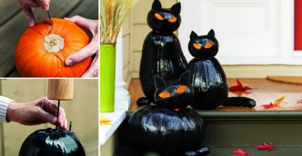 How To Make Black Cat Jack O'Lanterns