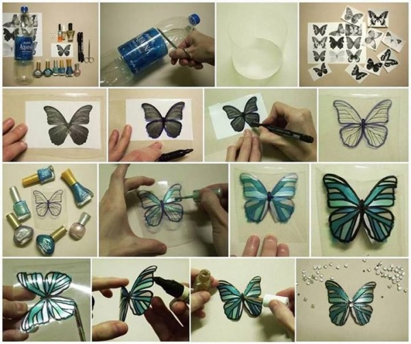 How To Make Butterflies With Plastic Bottles