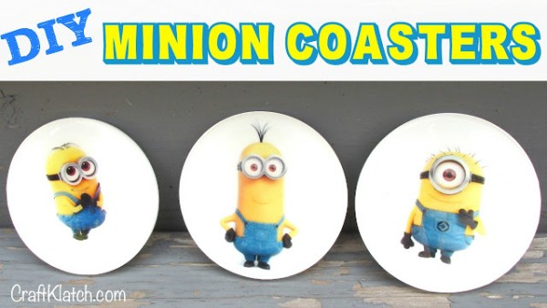 How To Make DIY Minion Coasters