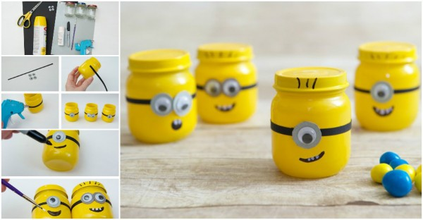 How To Make Minions With Baby Food Jars