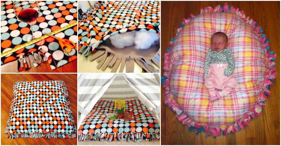 How To Make No Sew Floor Pillow – How To Instructions