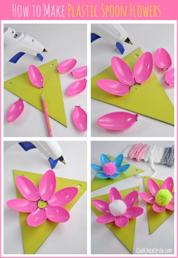 How To Make Plastic Spoon Flowers 1