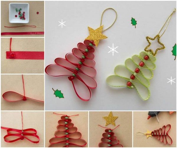 How To Make Ribbon Christmas Trees 1
