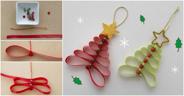 How To Make Ribbon Christmas Trees