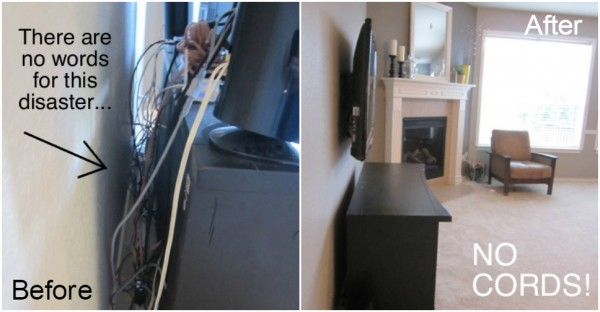 How To Mount A TV And Hide Those Ugly Cords