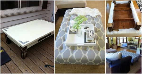 How To Turn A Coffee Table Into An Ottoman