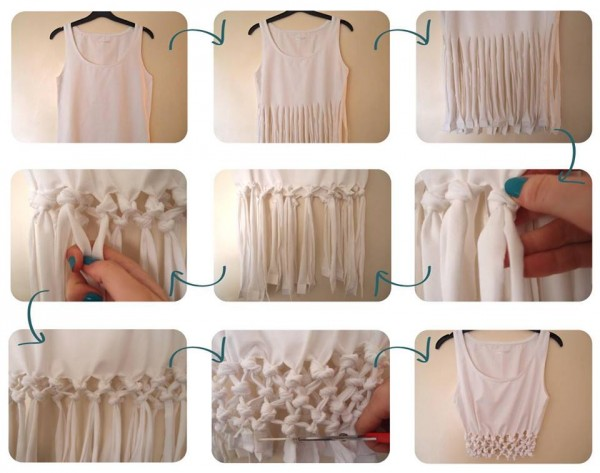 Knotted Crop Top Tutorial 1