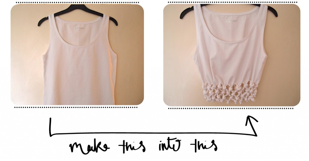 Knotted Crop Top Tutorial