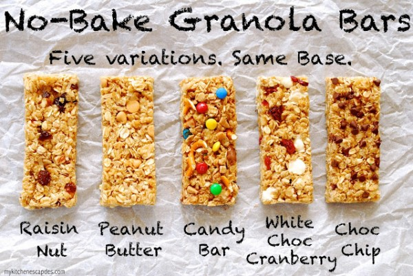 No-Bake Granola Bars Recipe & Tutorial