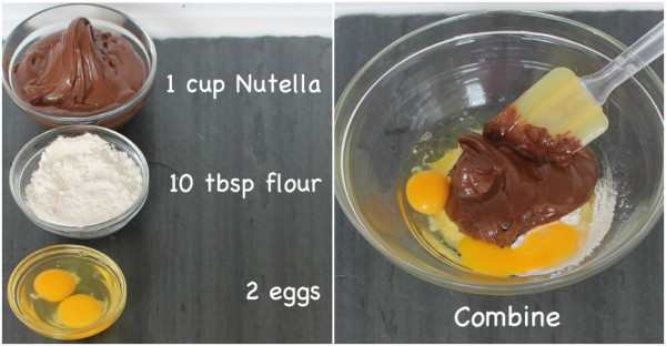 Nutella Brownies - Recipe With 3 Ingredients