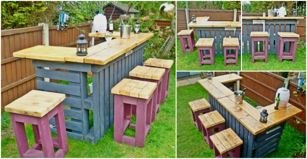 Pallet Patio Bar