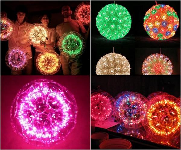 Plastic Cup Sparkle Balls