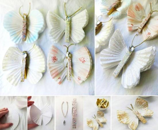 Pretty Cupcake Liner Butterflies 2