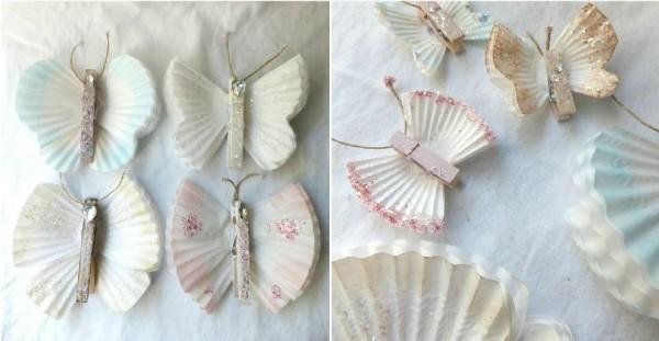 Pretty Cupcake Liner Butterflies