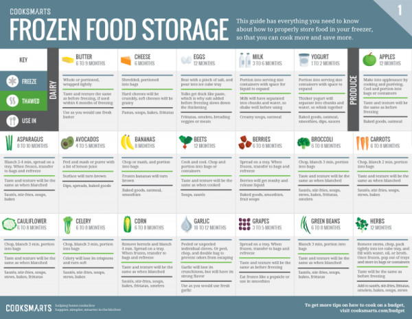 Printable Frozen Food Storage Guide 2