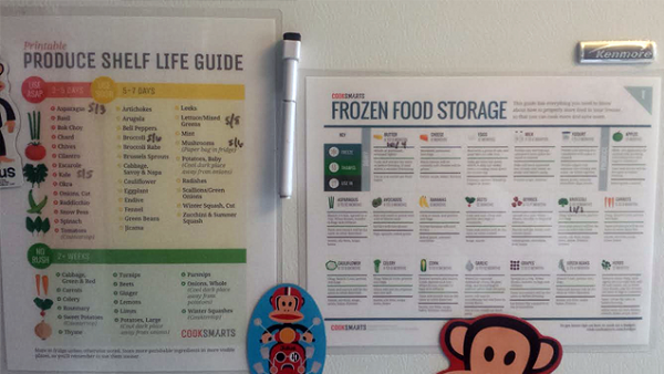 Printable Frozen Food Storage Guide