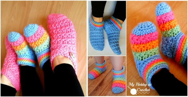 Starlight Toddler Slippers - Free Crochet Pattern with Tutorial 1