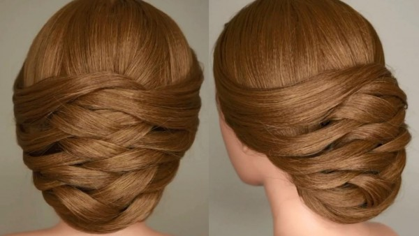 Weaving Bridal Updo Hair Tutorial