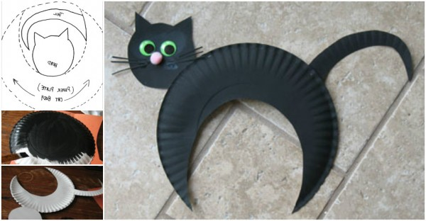 Activities For Kids - Paper Plate Black Cat