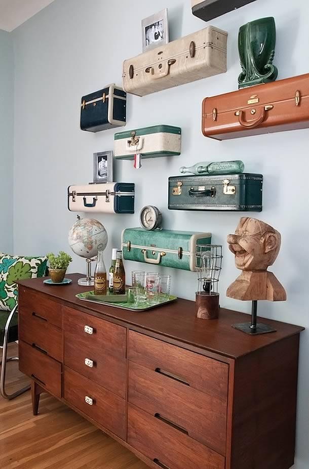 Creative Ways To Recycle Vintage Suitcases 6