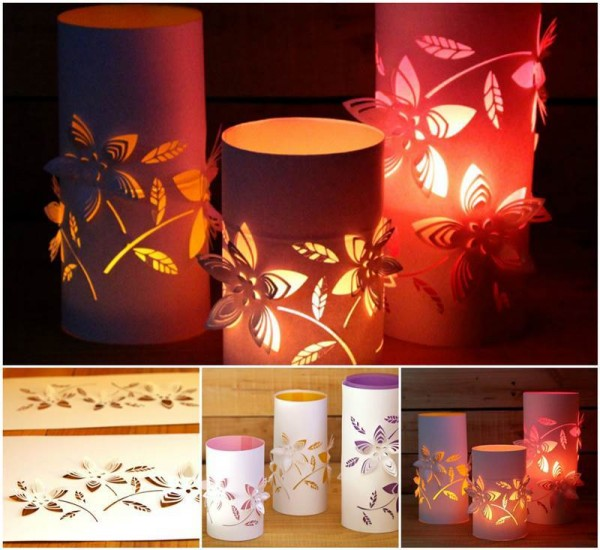 DIY Flower Paper Lantern Lighting 1