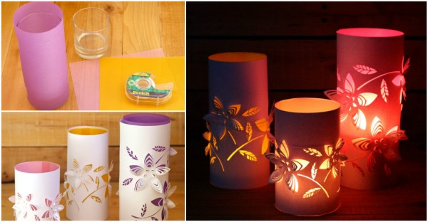 DIY Flower Paper Lantern Lighting